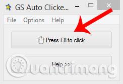 Nhấn phím F8 để khởi động hoặc nhấn chuột tự động