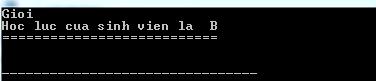 Kết quả sau khi chạy lệnh switch trong C