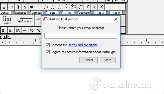 Nhập email cá nhân