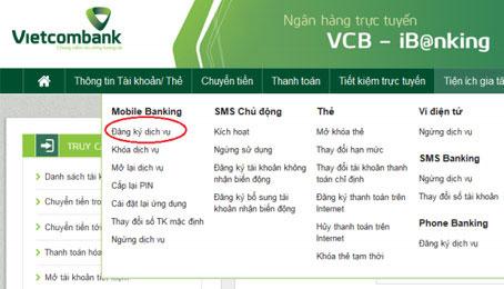 Cách đăng ký BankPlus Internet Banking của Vietcombank
