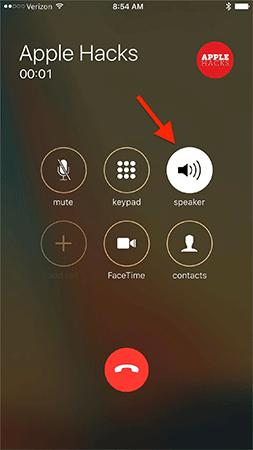 Loa ngoài được bật tự động trên cuộc gọi iPhone