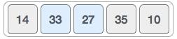 Tiếp đó chúng ta so sánh 33 và 27