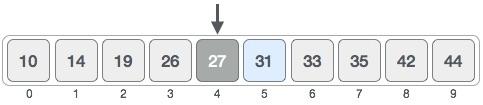 Chia mảng thành hai nửa theo phép toán