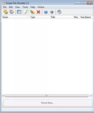 Phần mềm Simple File Shredder
