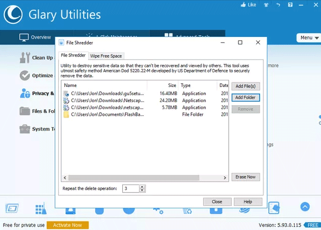 Phần mềm Glary Utilities