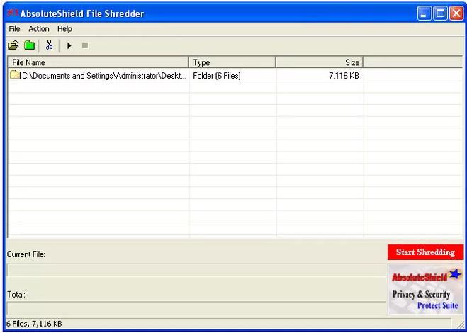 Phần mềm AbsoluteShield File Shredder