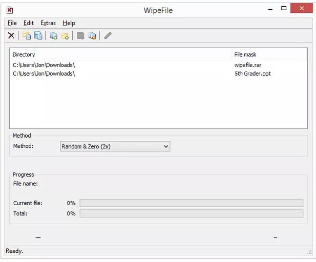Phần mềm WipeFile