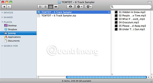 File giải nén nằm cùng vị trí với file gốc