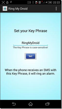 Sử dụng ứng dụng Ring My Droid