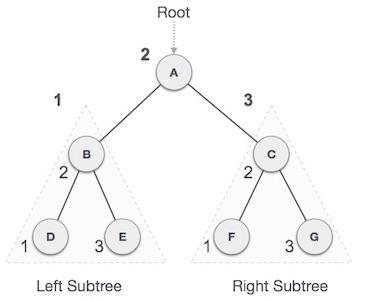 Duyệt trung thứ tự trong cây nhị phân