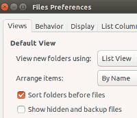 Thiết lập chế độ xem mặc định trong Files Manager