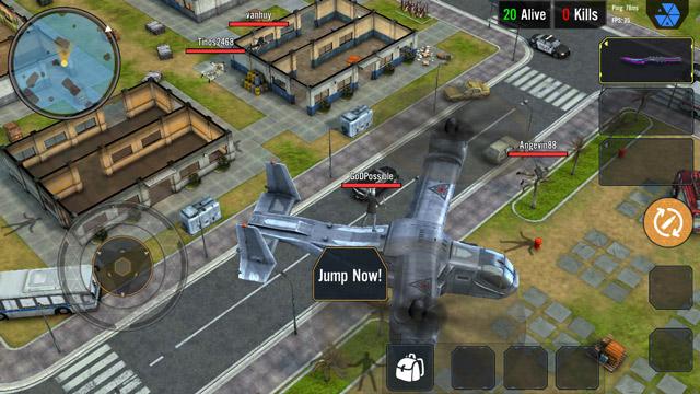 Arena Of Survival sử dụng góc nhìn từ dưới lên (Trên dưới)