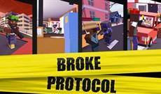 """Mời tải Broke Protocol, game """"dị"""" kết hợp giữa GTA và Minecraft đang miễn phí trên Steam"""