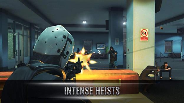 Đồ họa 3D trong Military Heist rất đẹp, ngoại hình của nhân vật được viết tốt
