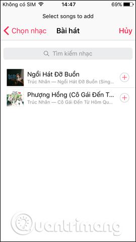 Chọn bài hát