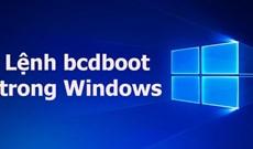 Lệnh bcdboot trong Windows