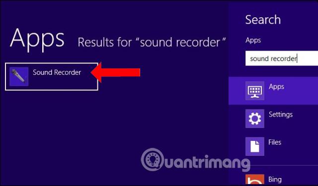 Mở Sound Recorder Windows 8