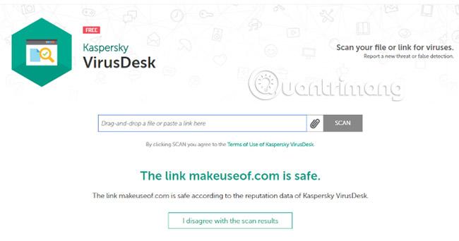 Kiểm tra độ an toàn của link, trang web