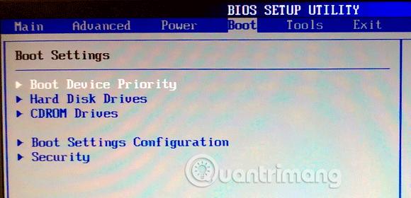 Truy cập vào BIOS