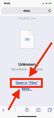 download file rar về iphone
