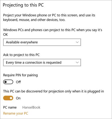 Cài đặt laptop thành màn hình thứ hai