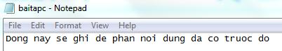 Biên dịch và chạy chương trình trên để tạo một baitapc.txt