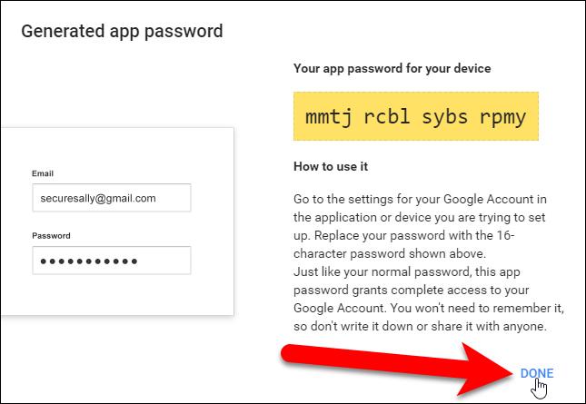 Nhập mật khẩu cho ứng dụng