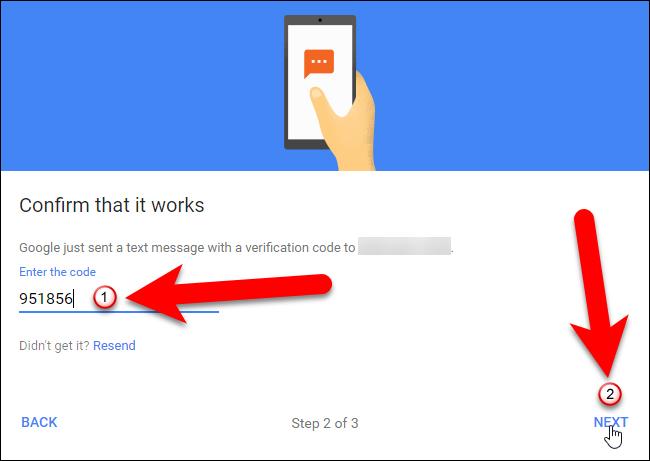 Nhập mã xác minh trên màn hình Confirm that it works