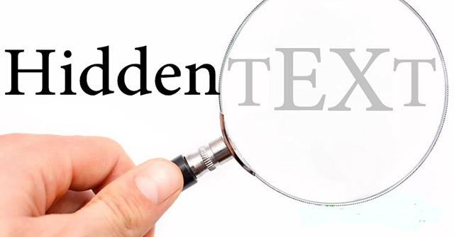 Cách sử dụng Hidden Text trong tài liệu Word