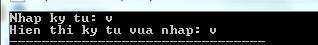 Khai báo hàm getchar() trong C