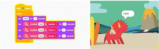 Tiện ích Google Dịch - một trong nhiều tiện ích mở rộng mới sắp có trong Scratch 3.0