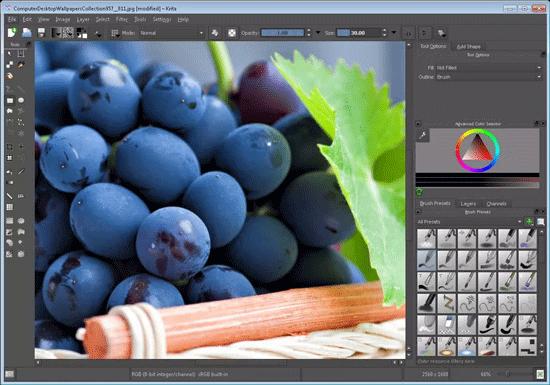 Phần mềm chỉnh sửa ảnh Krita Desktop