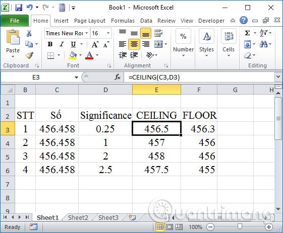 Các cách làm tròn số trên Excel - Ảnh minh hoạ 4