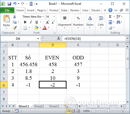 Các cách làm tròn số trên Excel - Ảnh minh hoạ 5