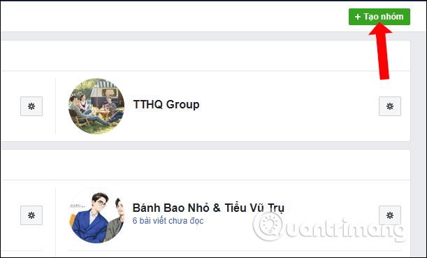 Tạo nhóm Facebook mới