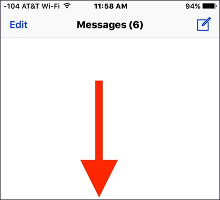 Mở ứng dụng tin nhắn trên iPhone