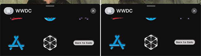 Nhấn X để đóng gói nhãn dán WWDC
