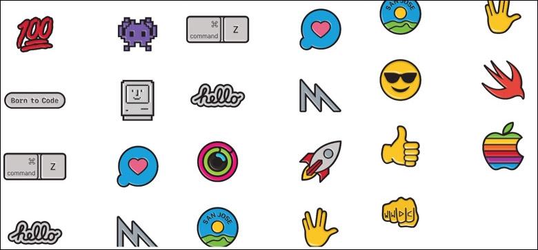 Một số nhãn dán trong gói WWDC