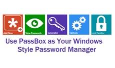 PassBox: Trình quản lý và tạo mật khẩu miễn phí cho Windows 10/8/7