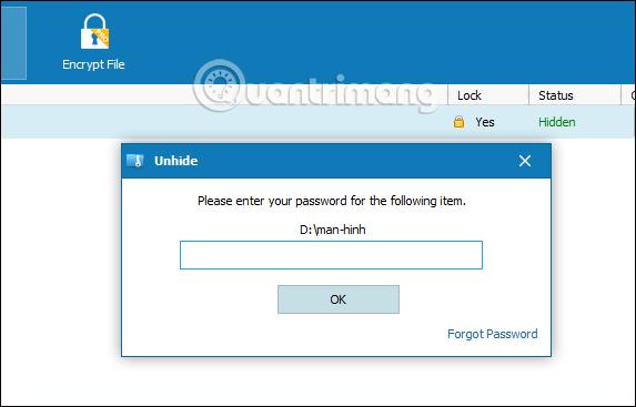 Cách đặt mật khẩu thư mục bằng Wise Folder Hider - Ảnh minh hoạ 11