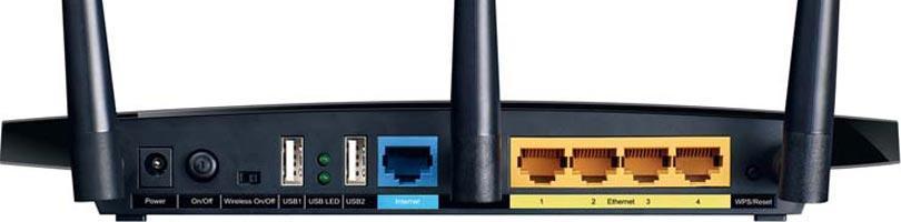 Mặt sau của router