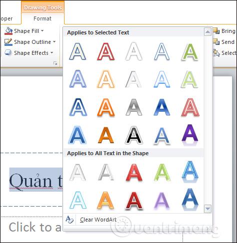 Cách tạo hiệu ứng chữ trong PowerPoint
