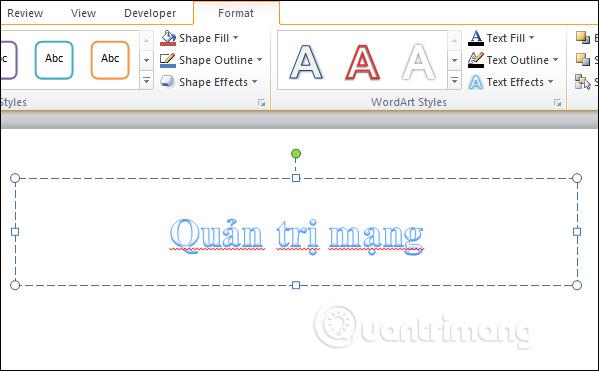 Cách tạo hiệu ứng chữ trong PowerPoint - Ảnh minh hoạ 2