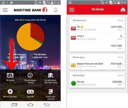 Các cách kiểm tra số dư tài khoản Maritime Bank