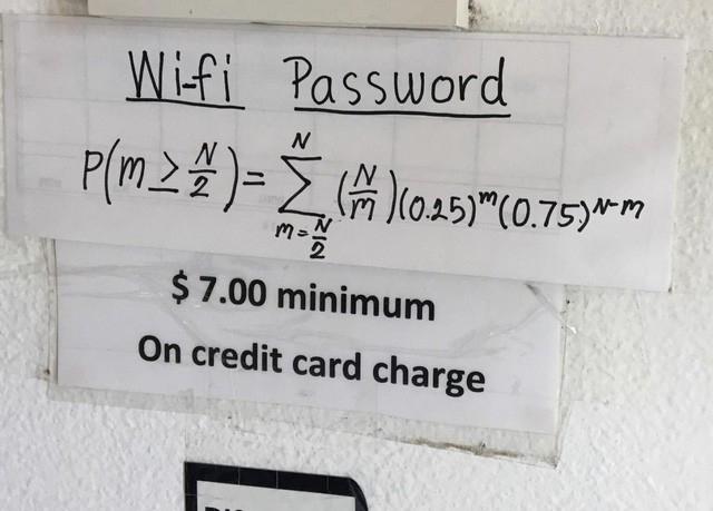Pass wifi là một bài toán