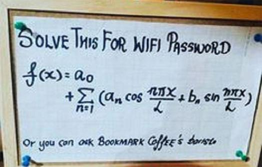 Giải bài toán để tìm pass wifi