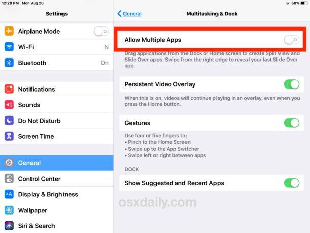 Cách tắt tính năng chia đôi màn hình trên iPad - Quantrimang.com