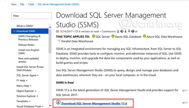 Hướng dẫn cài SQL Server 2017 từng bước - Quantrimang com