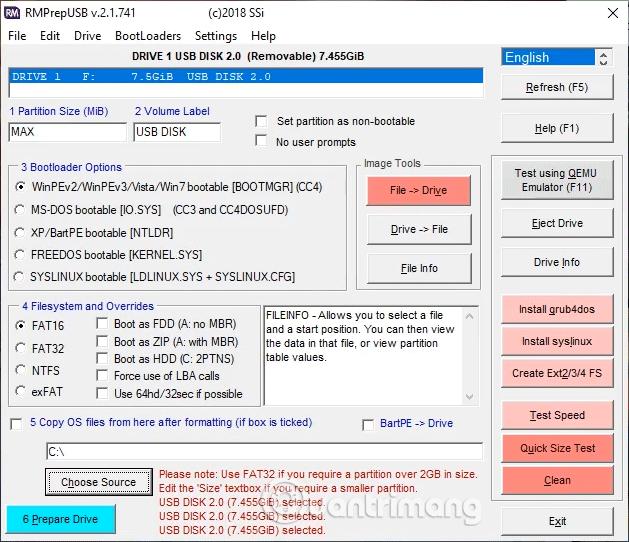 Phần mềm RMPrepUSB