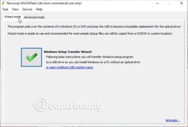 Phần mềm Novicorp WinToFlash